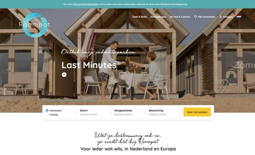 De website van Roompot