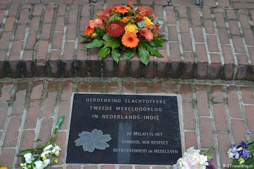 Het Indiëmonument in Baarn tijdens de 8e etappe van het Westerborkpad
