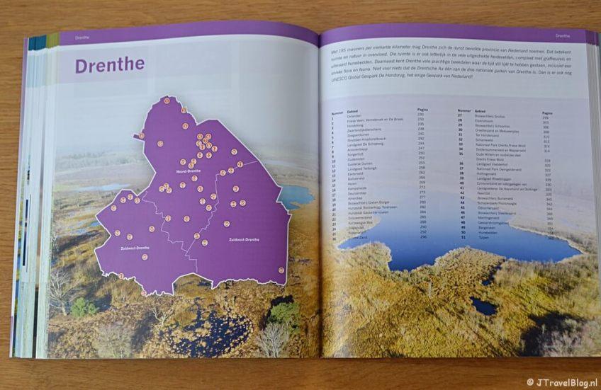 Inhoudsopgave per provincie van het boek 'De mooiste fotolocaties van Noord-Nederland'