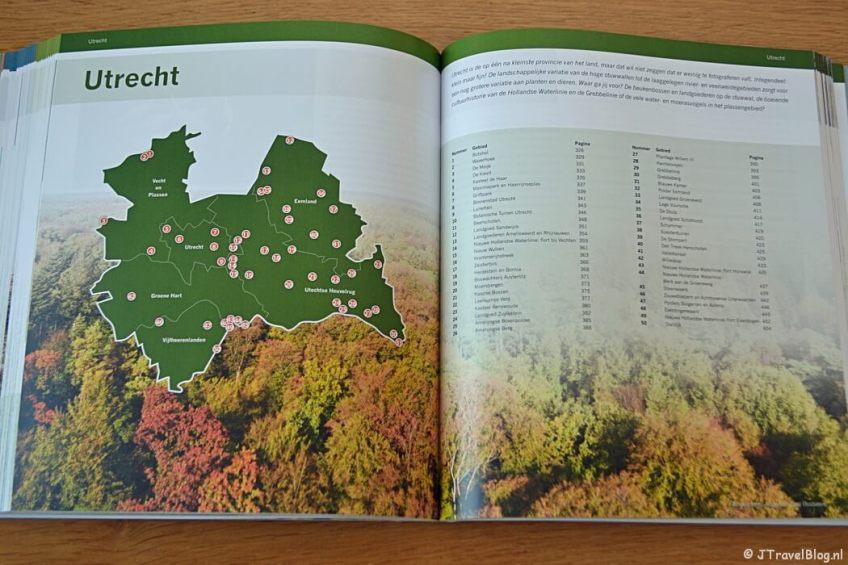 Inhoudsopgave per provincie van het boek 'De mooiste fotolocaties van West-Nederland'