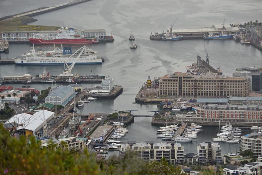 Waterfront vanaf Signall Hill in Kaapstad