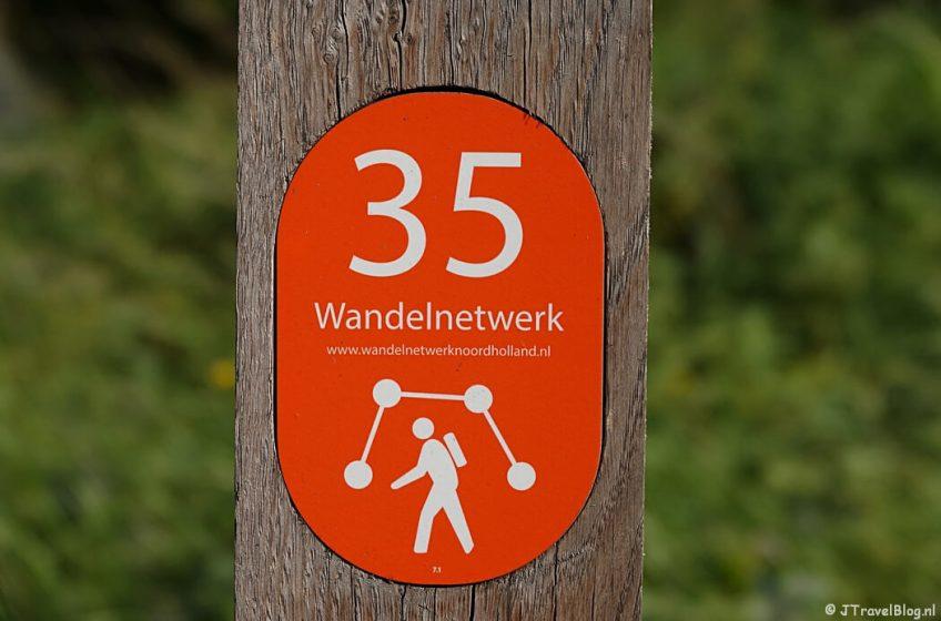 Knooppunt 35 tijdens mijn wandeling van het Fortenpad van Wandelnetwerk Amstelland/Noord-Holland