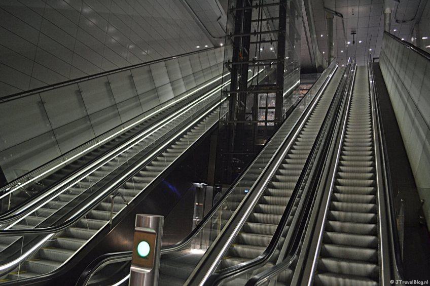 De roltrap van station Rokin