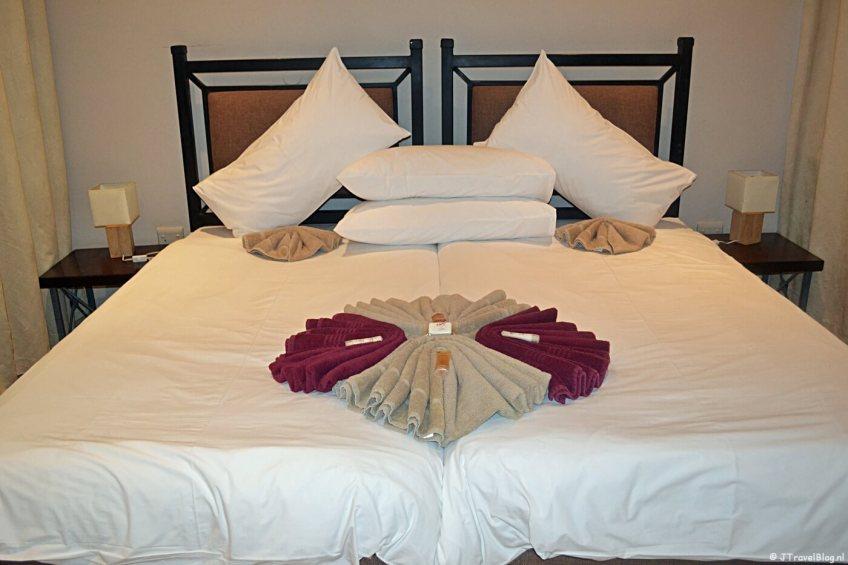Mijn kamer in het Ais-Ais Resort in de buurt van de Fish River Canyon