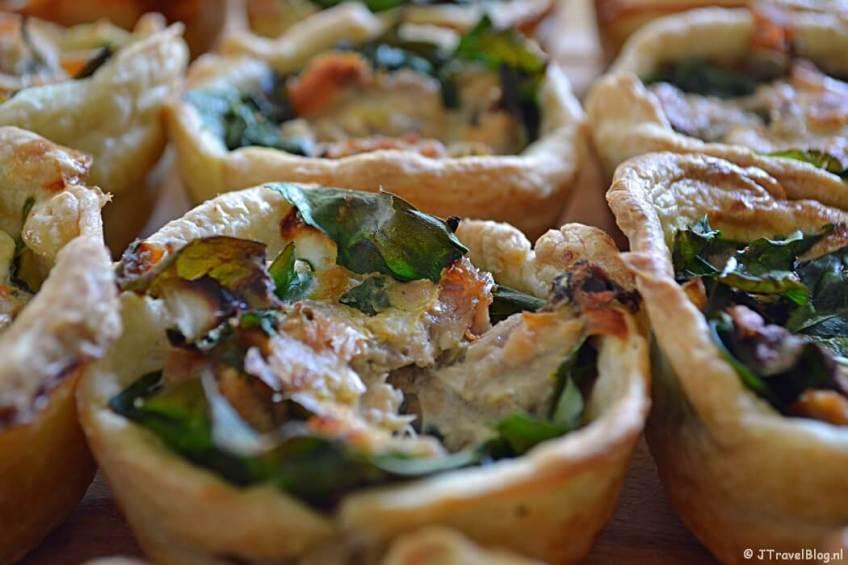 Recept: mini quiches met zalm en spinazie