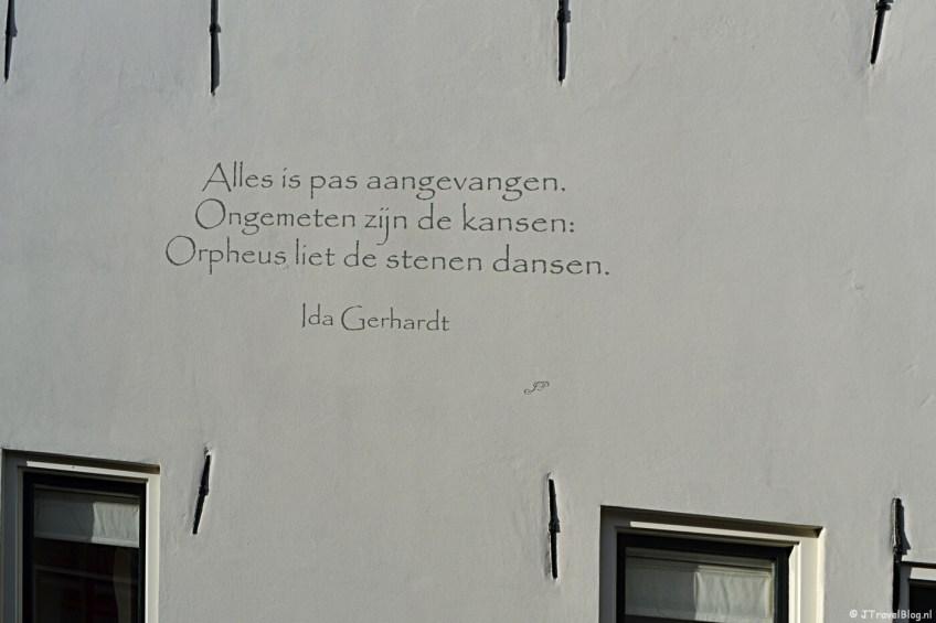 Muurgedicht 'Orpheus' van Ida Gerhardt