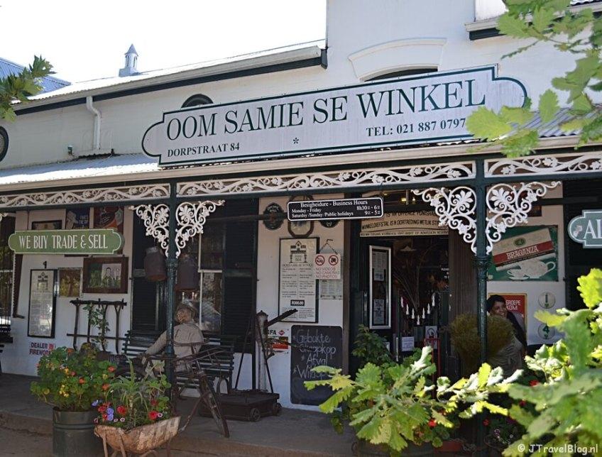 Oom Samie Se Winkel in Stellenbosch in Zuid-Afrika