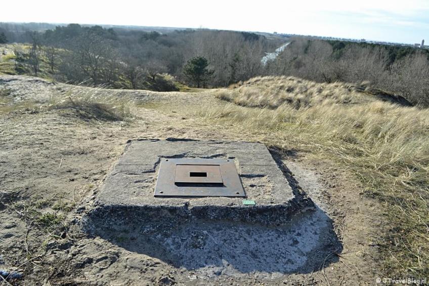 Op de top van de Tonneblink tijdens de bunkerroute in de Amsterdamse Waterleidingduinen