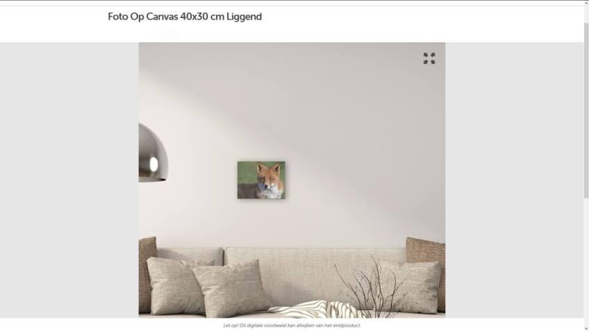 De preview van mijn foto op canvas van Fotofabriek.nl