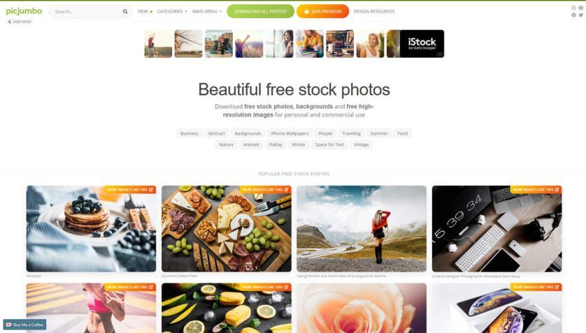 Picjumbo: een website met gratis afbeeldingen