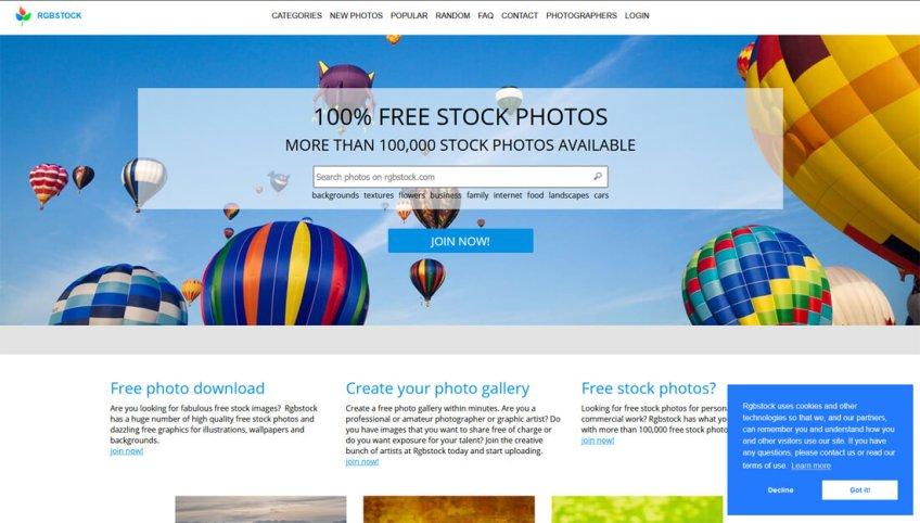 RGB-Stock: een website met gratis afbeeldingen