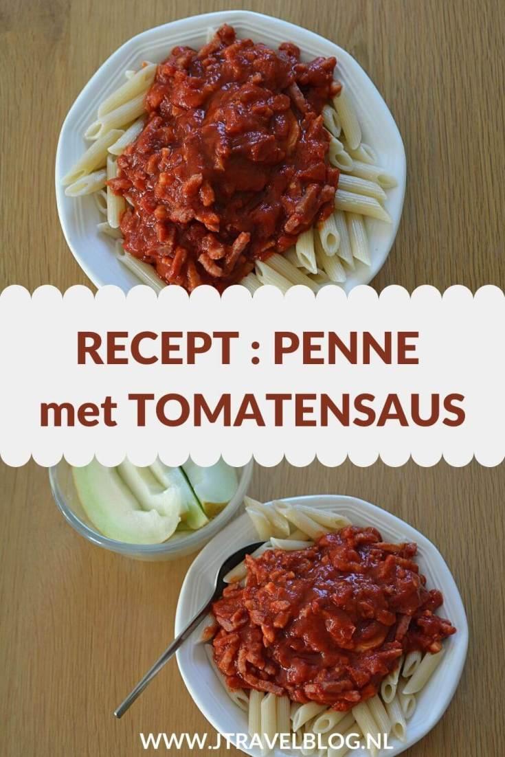 Ik heb een heerlijk recept voor je gemaakt: Penne met tomatensaus. Makkelijk en snel te maken. Eet smakelijk. Hier lees je hoe je dit recept zelf kunt maken. #recept #penne #tomatensaus #pasta