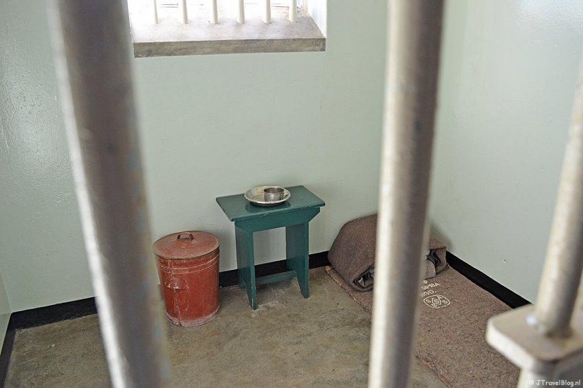 De cel van Nelson Mandela op Robbeneiland