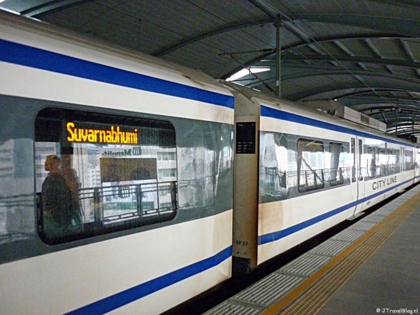 De Skytrain in Bangkok