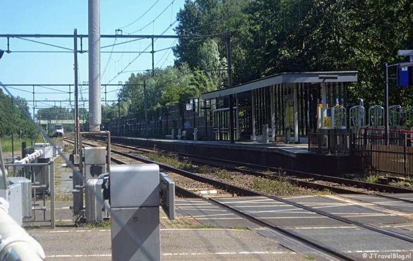 Station Diemen tijdens de 1e etappe van het Westerborkpad