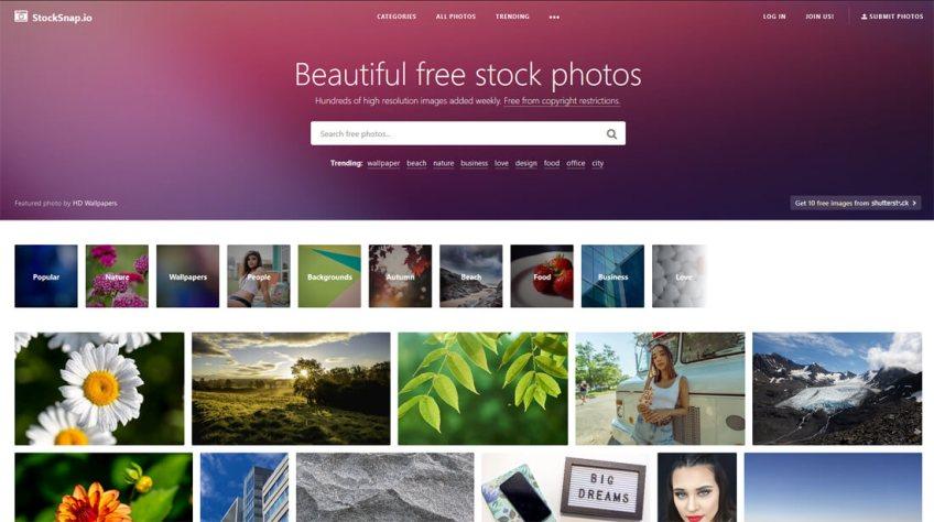 StockSnap: een website met gratis afbeeldingen