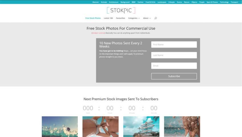Stokpic: een website met gratis afbeeldingen