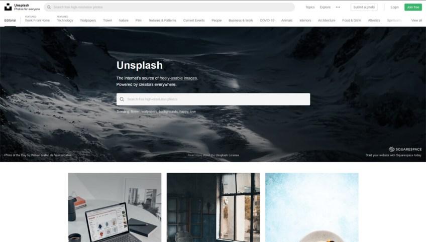 Unsplash: een website met gratis afbeeldingen