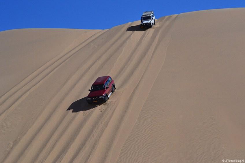 In de zandduinen tijdens de Living Desert Tour in de duinen bij Walvis Bay