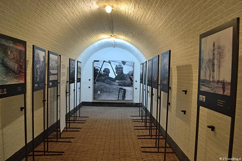 De fototentoonstelling Front 14-18: De Eerste Wereldoorlog in 3D in het Waterliniemuseum bij Fort bij Vechten in Bunnik