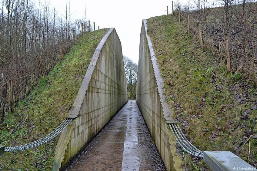 De ingang van het Waterliniemuseum bij Fort bij Vechten in Bunnik