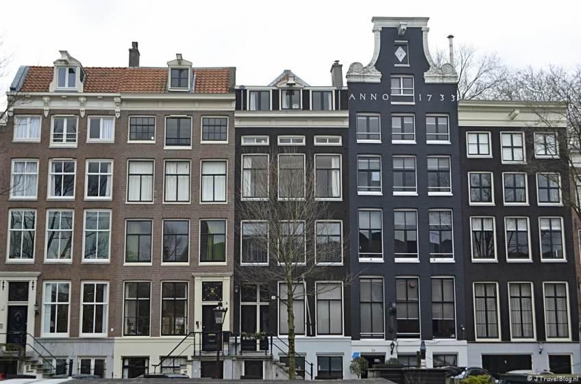 Huizen aan de Nieuwe Keizersgracht in Amsterdam