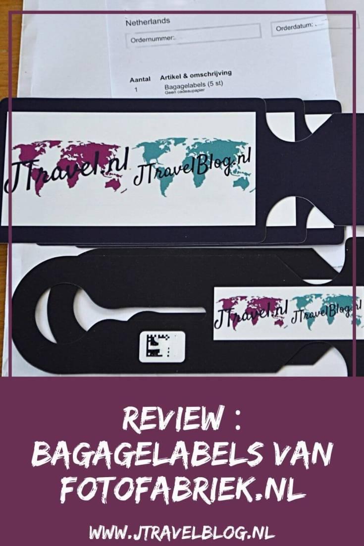 Van Fotofabriek.nl mocht ik in ruil voor een review een set van 5 bagagelabels ontwerpen en laten drukken. Mijn review over de bagagelabels van Fotofabriek.nl lees je op mijn website. Lees je mee en doe inspiratie op. #review #fotofabriek #bagagelabels #jtravelblog #jtravel