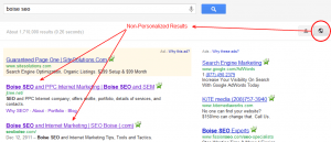 Boise SEO - Non Personalized Results