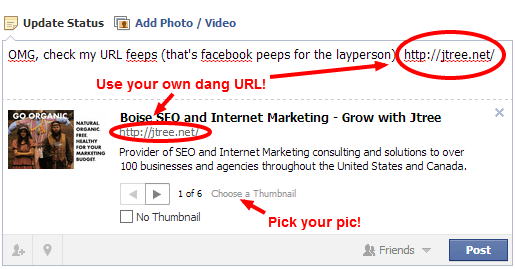 Use your own URL on Facebook