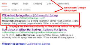 Google SEO Search Operator in Action