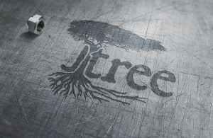 Jtree Logo Metal Art