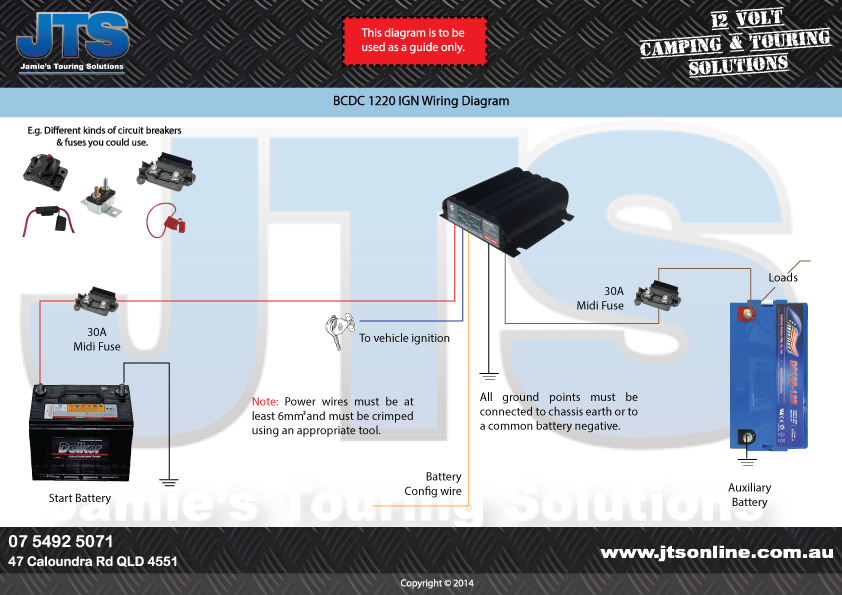 easy to read redarc wiring diagrams for bcdc chargers rh jts12volt com au