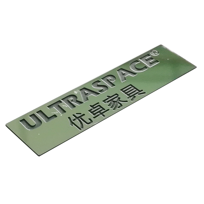 China factory custom stainless steel metal stickers with the etched logo used for furniture