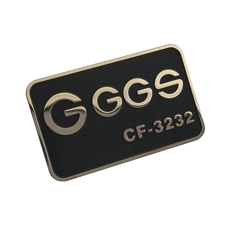 Custom metal label nameplate stainless steel etching logo for perfume sticker house appliance electronic products packaging gift boxes machinery