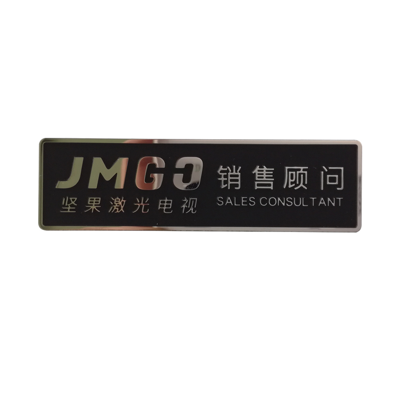 Custom print metal thin labels brand embossed logo stickers cheap etched stainless steel nameplates metal sticker for many products