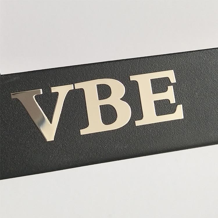 Custom electroforming nickel sticker embossed logo stickers glossy metal label sticker for phone case