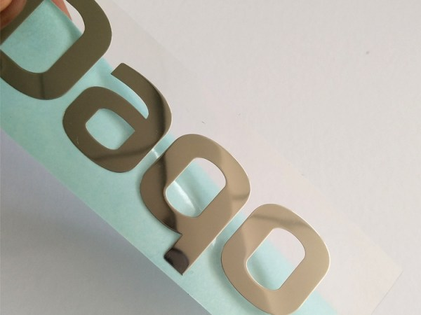 24 - Customized electroplate rose gold shiny gold sliver support Pantone color nickel metal stickers for decoration