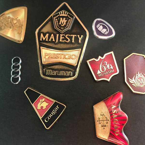 Factory wholesale high quality custom made 3d metal sticker electroforming logo label sticker for car golf club and equipment
