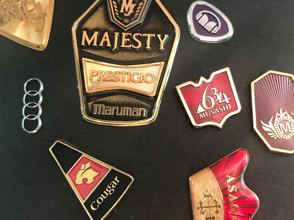 3D metal sticker 1 - Factory wholesale high quality custom made 3d metal sticker electroforming logo label sticker for car golf club and equipment