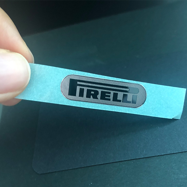 Nickel sliver sticker labels metal stickers for equipment with strong 3M glue nerver fade always shiny stickers