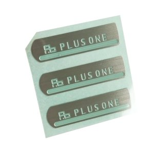 Custom brushed silver metal brand logo etched label metal tags self adhesive metal stainless steel stickers
