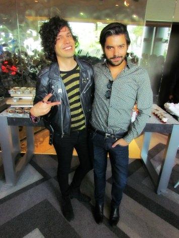 Axel Escalante y Juan Pablo de Esto es Púrpura