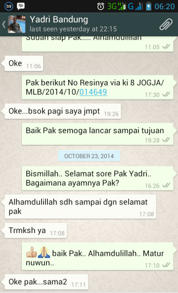 Testimonial Bapak Yadri Bandung