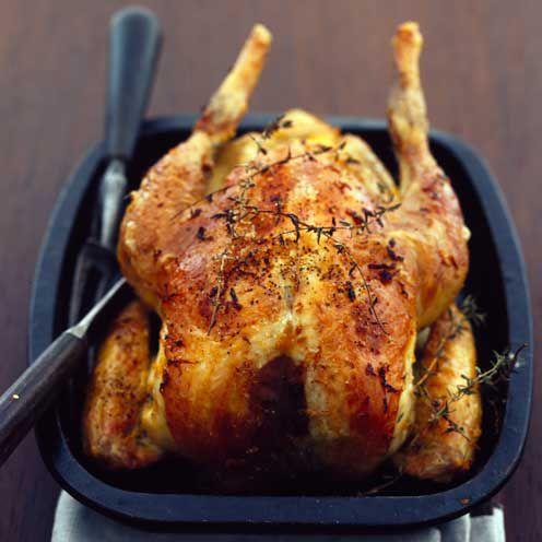 Delicious roasted guinea fowl