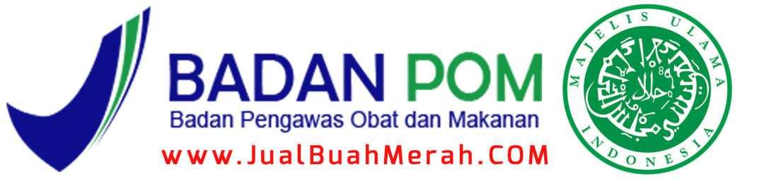 Logo mui dan logo bpom buah merah sarang semut papua