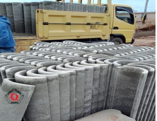 pengiriman buis beton belah