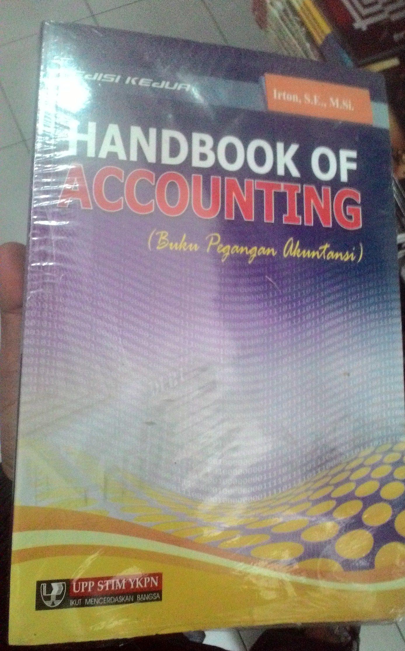 Handbook Of Accounting Buku Pegangan Akuntansi Jual