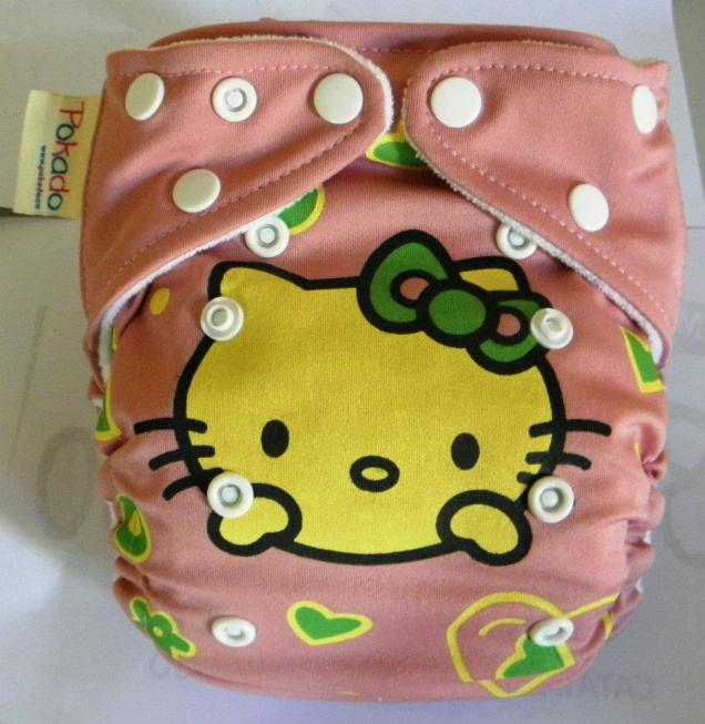 pokado clothdiaper hello kitty