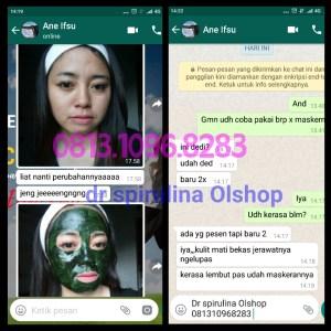 Testimoni Masker Spirulina Tiens Asli (1)