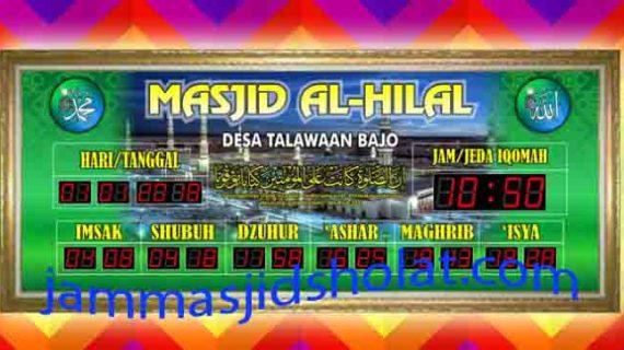 jual jam jadwal sholat digital masjid murah di cikampek selatan